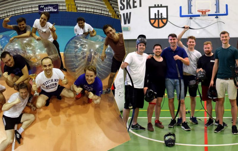 bubble football, archery tag in krakow, bumper ball experiences